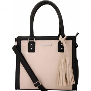 LAPIS-O- LUPO Lapis-O-Lupo Ivory Off White Handbag Shoulder Bag(Off white, 12 inch)