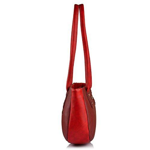 Fostelo Women's Combo Handbag & Clutch (Maroon & Red) (FSB-1135-FC-30)