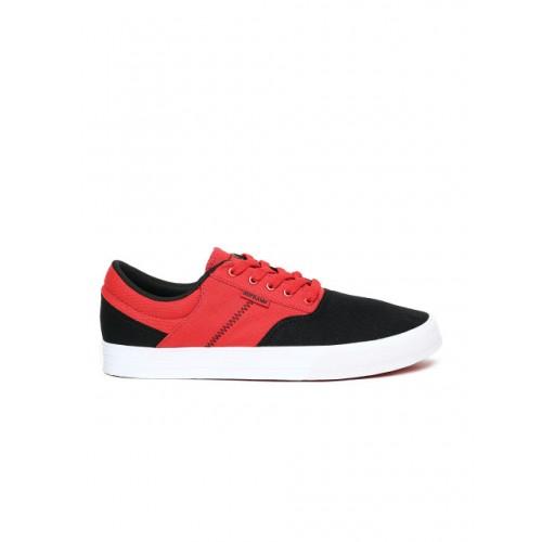 Supra Men Red & Black Colourblocked COBALT Sneakers
