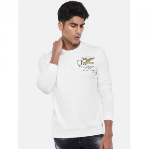 SPYKAR Men White Solid Round Neck T-shirt