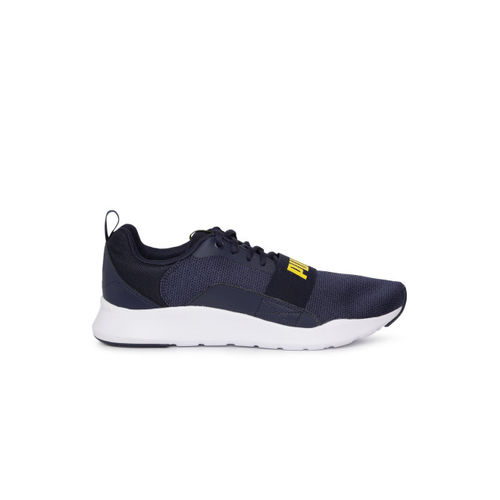 Puma Unisex Navy Blue Wired Knit Running Shoes