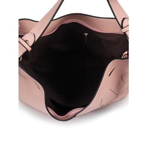 Butterflies Pink Solid Hobo Bag