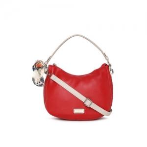 DressBerry Red Solid Hobo Bag