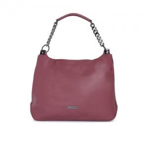 Caprese Mauve Solid Hobo Bag
