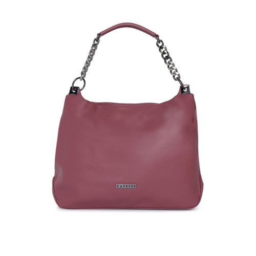 Caprese Mauve Solid Hobo Bag