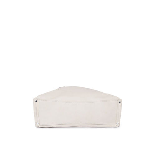 DressBerry Off-White Solid Hobo Bag with Sling Strap