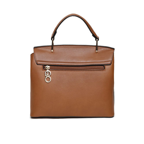 E2O Women Tan Solid Satchel