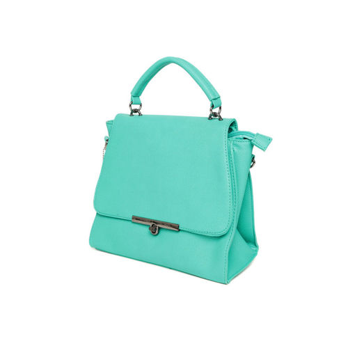 Lino Perros Turquoise Blue Solid Satchel Bag