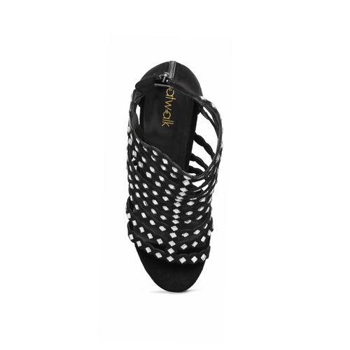 Catwalk Women Black Embellished Open Toe Gladiators