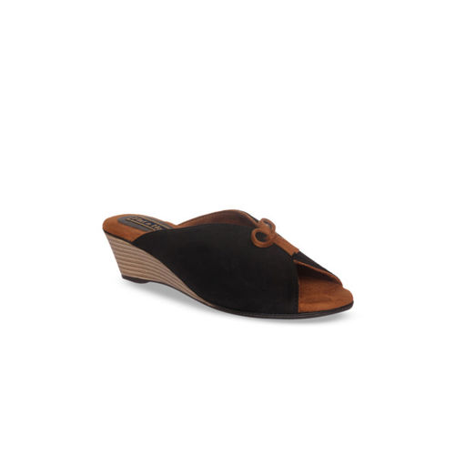 db743abdd13 Buy Flat n Heels Women Black Solid Suede Mules online