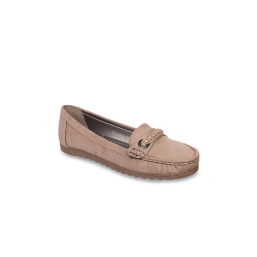Flat n Heels Women Khaki Loafers