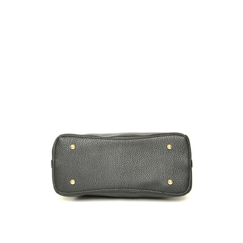 Lino Perros Black Solid Handheld Bag