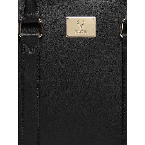 Allen Solly Black Solid Handheld Bag