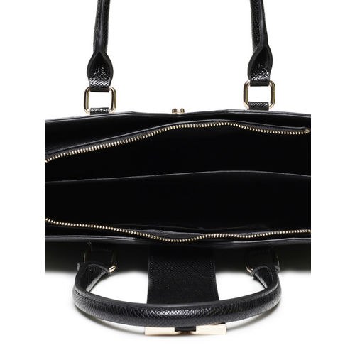 Dune Black & Beige Colourblocked Handheld Bag