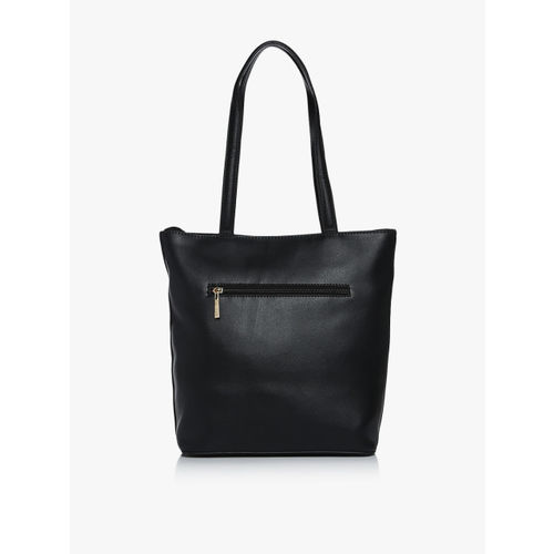 Global Desi Thyme Black Large Tote Bag