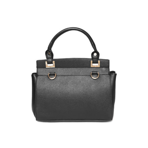 Dune London Black Appliqu Handheld Bag with Detachable Sling Strap