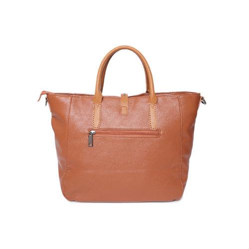 Roadster Brown Solid Handheld Bag