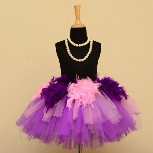 44c96df6a Buy Pari Katha Purple Double Layered Tutu Skirt online | Looksgud.in
