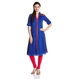 IndusDiva By Priyadarshini Rao Royal Blue Gara Work Kurta
