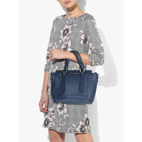 Lino Perros Blue Polyurethane (Pu) Handbag