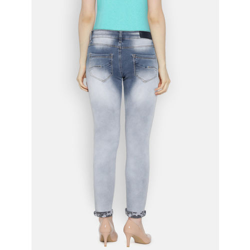 Deal Jeans Women Blue Skinny Fit Mid-Rise Clean Look Jeans