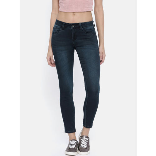 Deal Jeans Women Blue Skinny Fit Mid-Rise Clean Look Stretchable Jeans