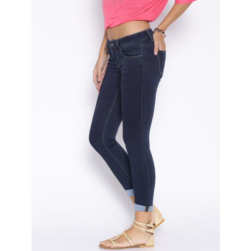 Deal Jeans Women Blue Skinny Fit Mid-Rise Jeans