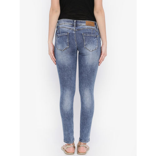 Deal Jeans Women Blue Skinny Fit Mid Rise Clean Look Jeans
