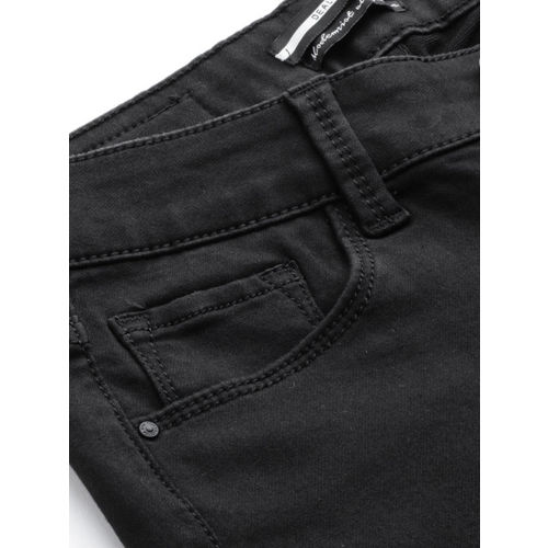 Deal Jeans Women Black Skinny Fit Mid-Rise Clean Look Jeans