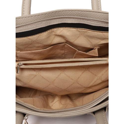 Lino Perros Beige Solid Handheld Bag