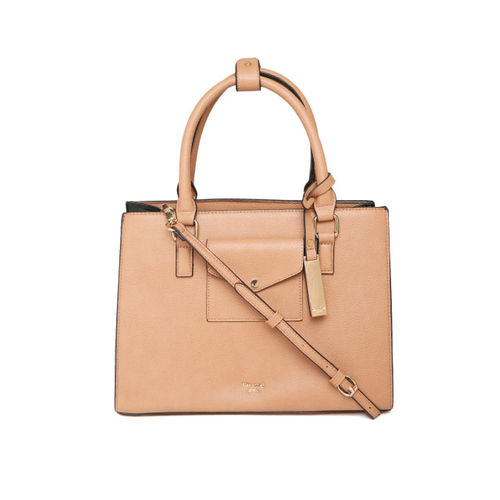 Dune London Beige Solid Handheld Bag with Sling Strap