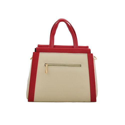LaFille Beige Solid Handheld Bag