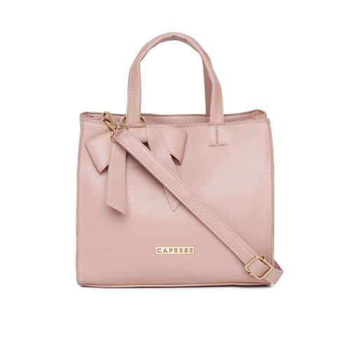 Caprese Pink Solid Handheld Bag