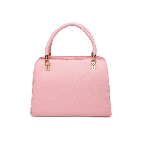 Lino Perros Pink Solid Handheld Bag