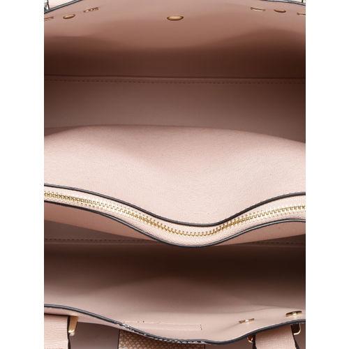 Dune London Pink Solid Handheld Bag with Detachable Sling Strap