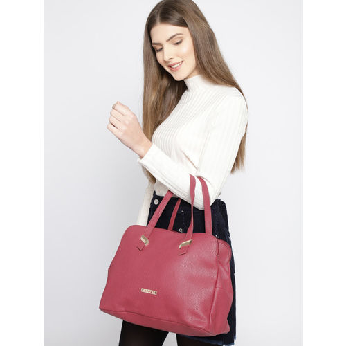 Caprese Red Medium Satchel Bag