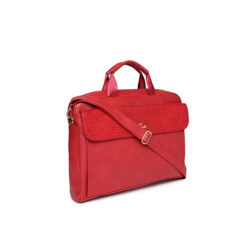Lavie Red Textured Handheld Bag