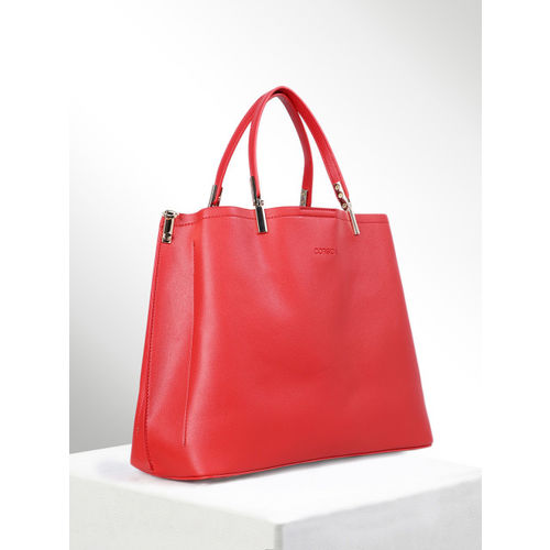 CORSICA Red Solid Handheld Bag