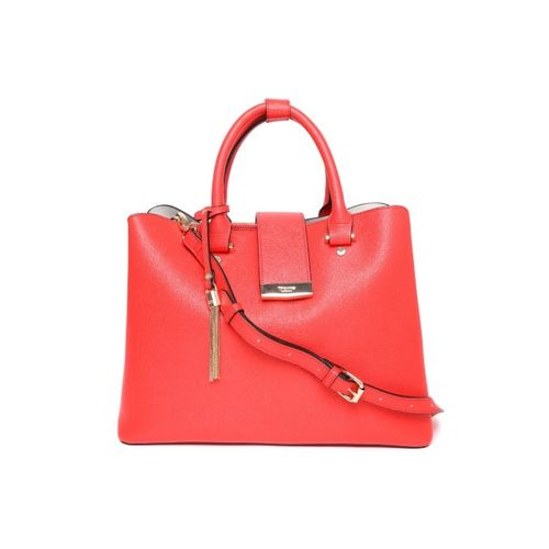 Dune London Red Solid Handheld Bag with Detachable Sling Strap