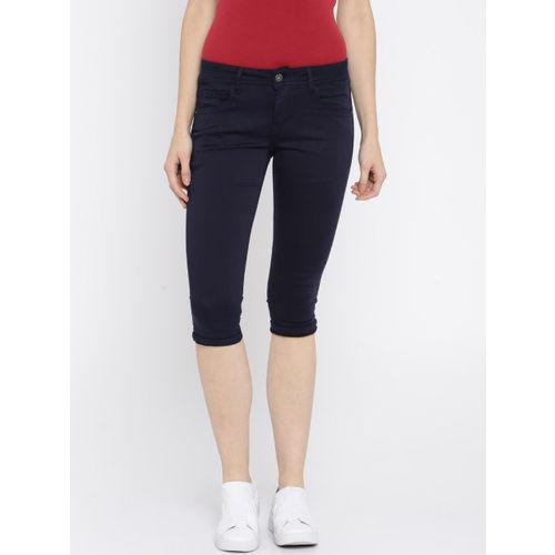 Deal Jeans Navy Skinny Fit Capris
