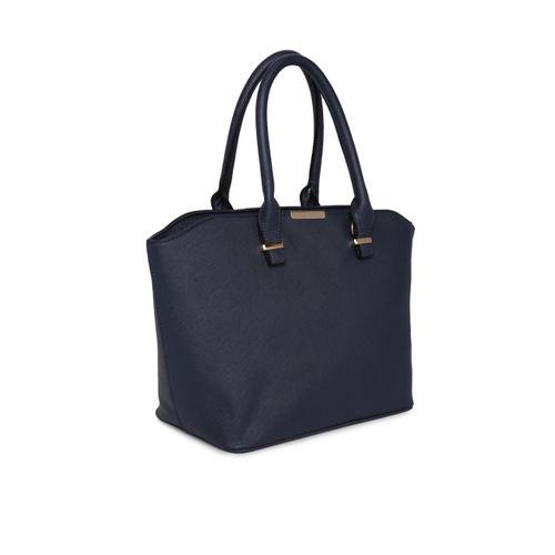 Mast & Harbour Navy Blue Solid Handheld Bag