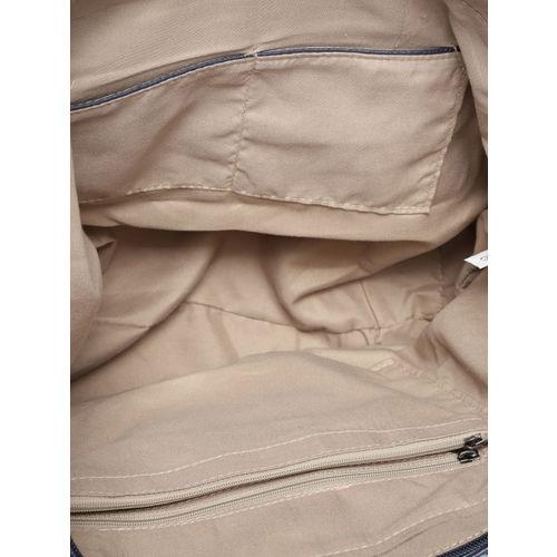 Roadster Navy Blue Solid Handheld Bag