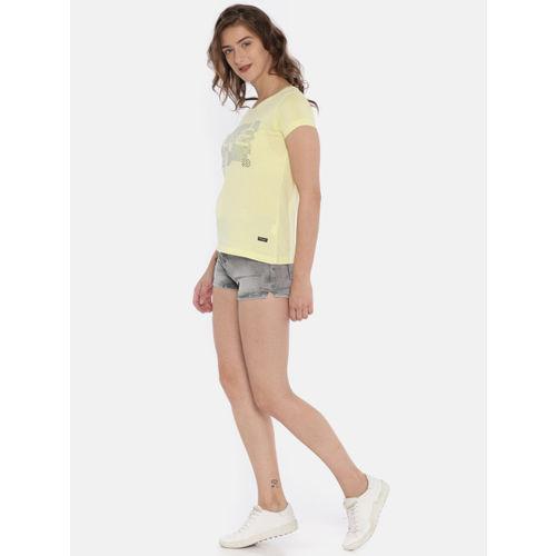 Deal Jeans Women Grey Washed Skinny Fit Denim Shorts