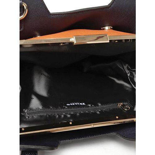Dune London Navy Blue Solid Handheld Bag