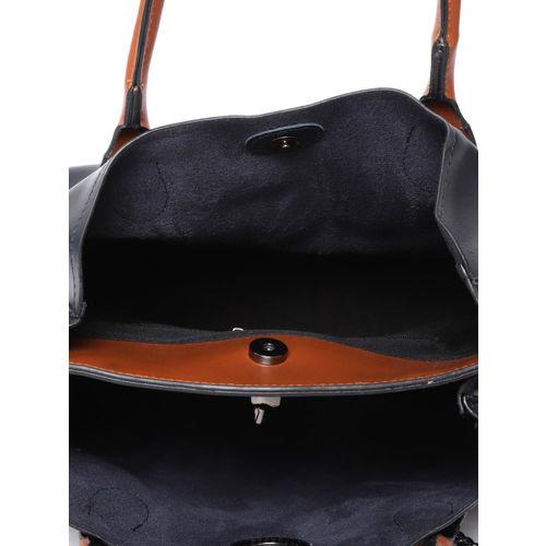 Roadster Navy Solid Handheld Bag