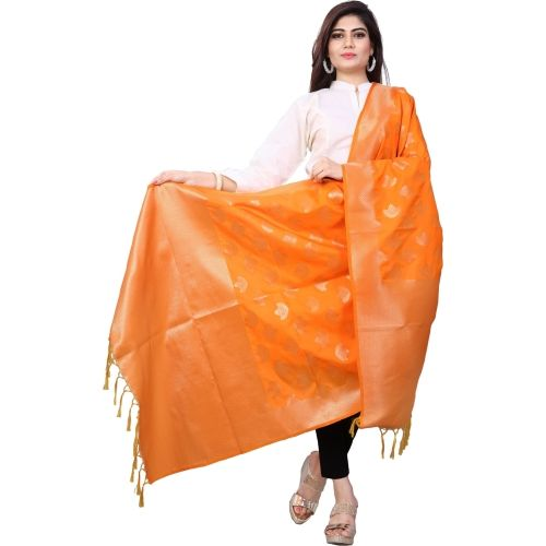 Style U Jacquard, Tussar Silk Embellished, Woven Women's Dupatta