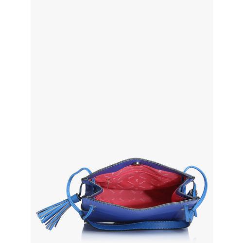 Global Desi Cumin Navy Blue/Light Blue Medium Shoulder Bag