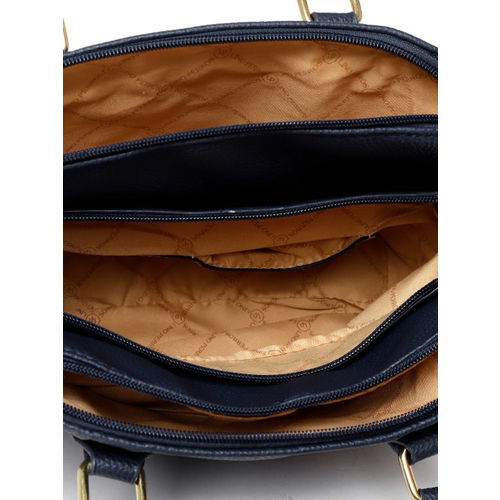 Lino Perros Navy Blue Solid Handheld Bag