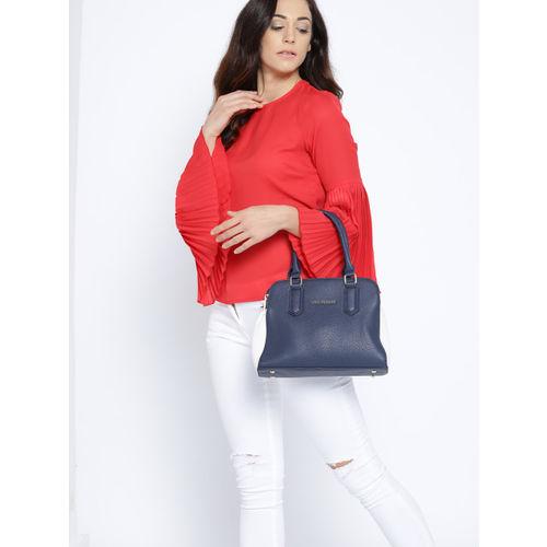 Lino Perros Navy Blue Solid Handheld Bag
