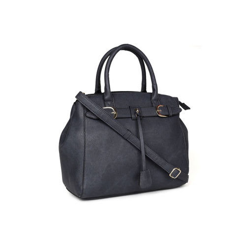 E2O Navy Blue Solid Handheld Bag